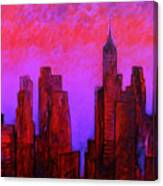Redhot City Canvas Print