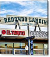 Redondo Beach Pier Closeup Canvas Print