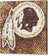 Redskins Mosaic Canvas Print