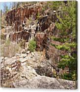 Redstone Granite Quarry - Conway New Hampshire Canvas Print