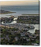 Redwood City, California Aerial Canvas Print
