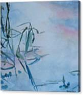 Reeds At Sunset Canvas Print