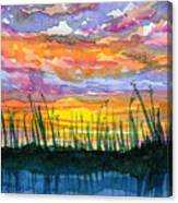 Reedy Sunset Canvas Print