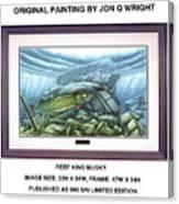 Reef King Musky Canvas Print