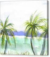 Reef Village Caribbean View Canvas Print