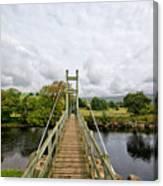 Reeth Swing Bridge Canvas Print
