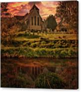 Reflected In The Stour Canvas Print