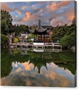 Reflecting At Chinese Garden Canvas Print