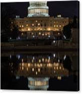 Reflecting At The Capitol Canvas Print