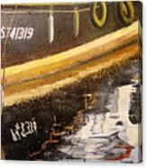 Reflecting Boat  Canvas Print