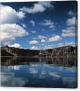 Reflecting On Crater Lake Canvas Print