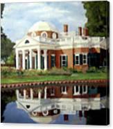 Reflecting On Jefferson Canvas Print