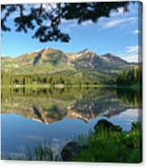 Reflecting On The Ruby Range Canvas Print