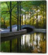 Reflecting Pool Roosevelt Park Canvas Print