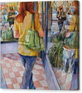 Reflecting Shopping Canvas Print
