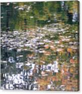 Fall Reflections 4 On Jamaica Pond Canvas Print
