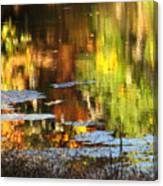 Fall Reflections 5 On Jamaica Pond Canvas Print