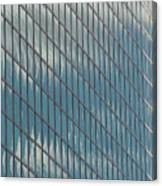 Reflection Clouds On Building Canvas Print