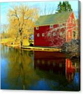 Reflection In Red Canvas Print