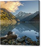 Reflection Of Aoraki Canvas Print