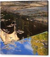 Reflection Of Montgomery Covered Bridge Canvas Print