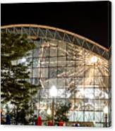 Reflection Of Navy Pier Ferris Wheel Canvas Print