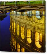 Reflection Of The Colosseum Canvas Print