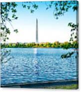 Reflection Of Washington Canvas Print