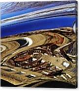 Reflection On A Parked Car 11 Canvas Print