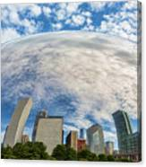 Reflection On The Bean Canvas Print