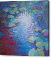 Reflection Pond With Liles Canvas Print