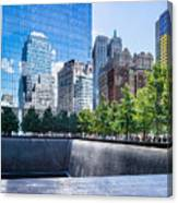 Reflections At 911 Memorial Canvas Print