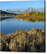 Reflections At Oxbow Bend Canvas Print