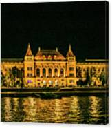 Reflections From Budapest University Canvas Print