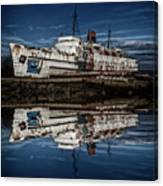 Reflections From The Duke Of Lancaster Ship  Canvas Print