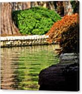 Reflections From The Riverwalk Canvas Print