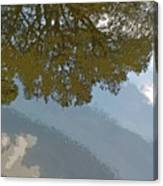 Reflections In A Lake - Poster Edges Canvas Print