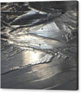 Reflections In Dark Ice 3 Canvas Print