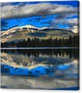 Reflections In Lake Beauvert Canvas Print