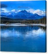 Reflections In The Athabasca Canvas Print