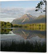 Reflections Lake Pioneer Peak Alaska Canvas Print