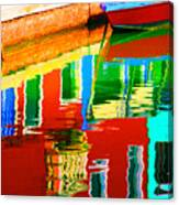 Reflections Near The Red Hull Canvas Print