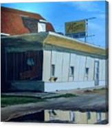 Reflections Of A Diner Canvas Print