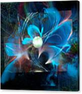 Reflections Of A Flower In The Moonlight Canvas Print