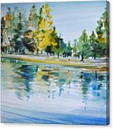 Reflections Of A Stroll Canvas Print