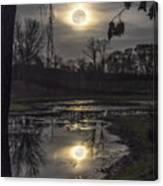 Reflections Of A Super Moon Canvas Print