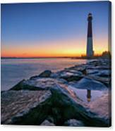 Reflections Of Barnegat Light Canvas Print