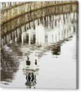 Reflections Of Church Canvas Print