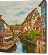 Reflections Of Colmar Canvas Print