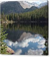 Reflections Of Majestic Mountains Canvas Print